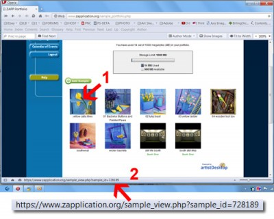 ZAPP image identification number