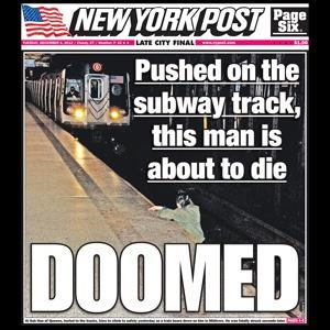 New York Post cover Dec 4, 2012