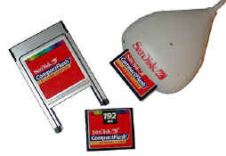 192 Meg Compact Flash Card, Type II Adapter, and ImageMate CompactFlash Card Reader