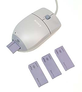 Sony's mouse/memory stick reader and memory sticks