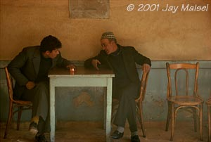 � 2001 Jay Maisel - Two Men at Coffee Shop