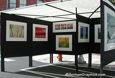 Selling photography at art shows for Display tents for craft fairs