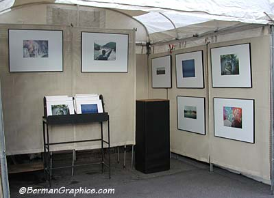 Larry Berman's art show booth