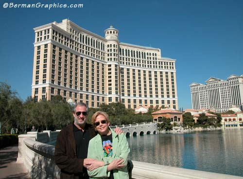 Mary and Larry Berman at the Bellagio Hotel in Las Vegas