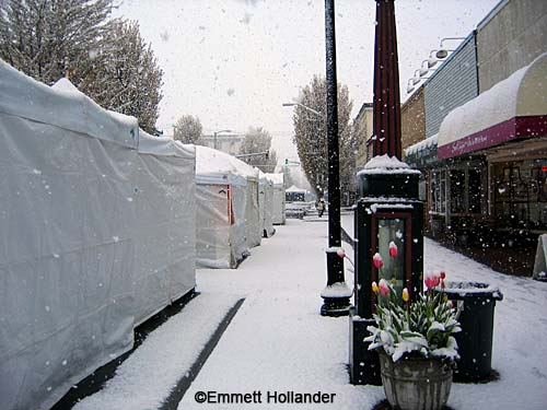 art show booths in snow