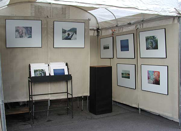 My booth slide from the summer 2001 art shows