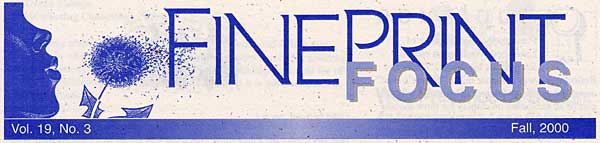 FinePrint Newsletter, Fall 2000