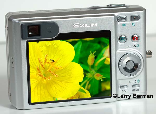 Casio EX-Z55 overly large LCD is perfect for slide shows