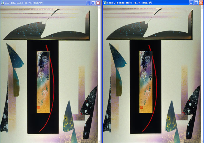 PC - iMAC Photoshop comparison